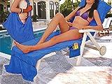 Liegestuhl Strandtuch Abdeckung Mikrofaser Pool Sonnenliege Stuhlabdeckung mit Taschen Urlaub Sonnenbaden Schnell Trocknend Handtücher 28,7
