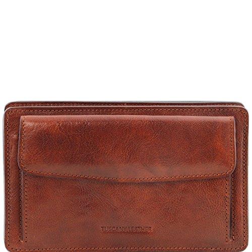 Tuscany Leather Denis Esclusivo borsello a mano in pelle Testa di Moro Marrone