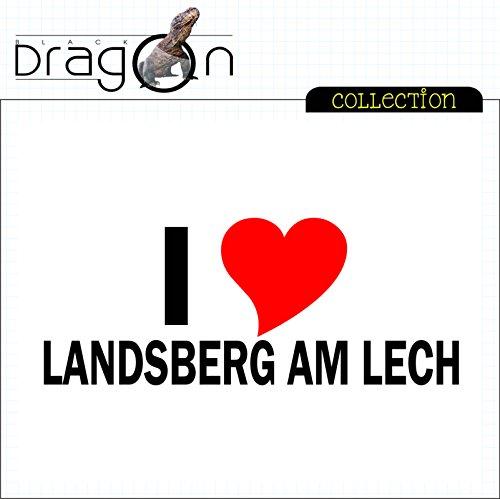 T-Shirt mit Städtenamen - i Love Landsberg am Lech - Herren - unisex Weiß