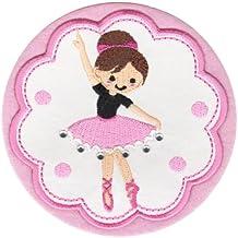 PatchMommy Parche Bordado Bailarina Parche Termoadhesivo - Parches y Apliques Infantiles