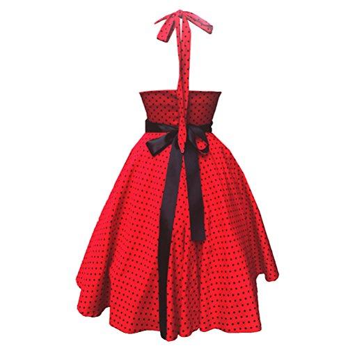 MILEEO 2016 Version3.0 Vintage 1950's Audrey Hepburn robe de soirée cocktail, bal style années 50 Rockabilly Swing B