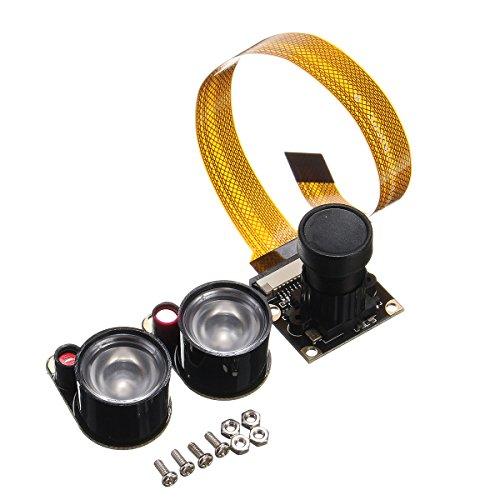 ILS - 5MP Infrarosso IR Visione notturna CMOS fotografica Modulo per Raspberry Pi