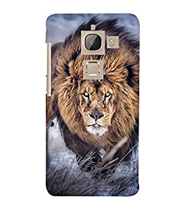 BLACK AND WHITE VINTAGE SIDE POSE OF A LION 3D Hard Polycarbonate Designer Back Case Cover for LeEco Le Max 2::Le TV Max 2