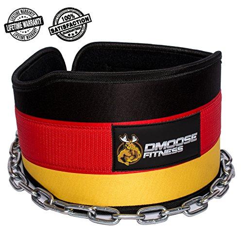 0c836e874fcfb Premium Dip Gürtel mit Kette von DMoose Fitness - 36