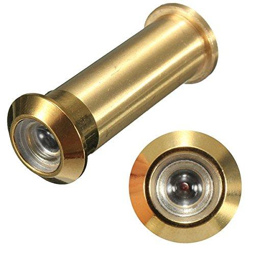 Preisvergleich Produktbild Rosa Eidechse 12mm Messing Sicherheit Türspion Türspion Türspion verstellbar 160Grad