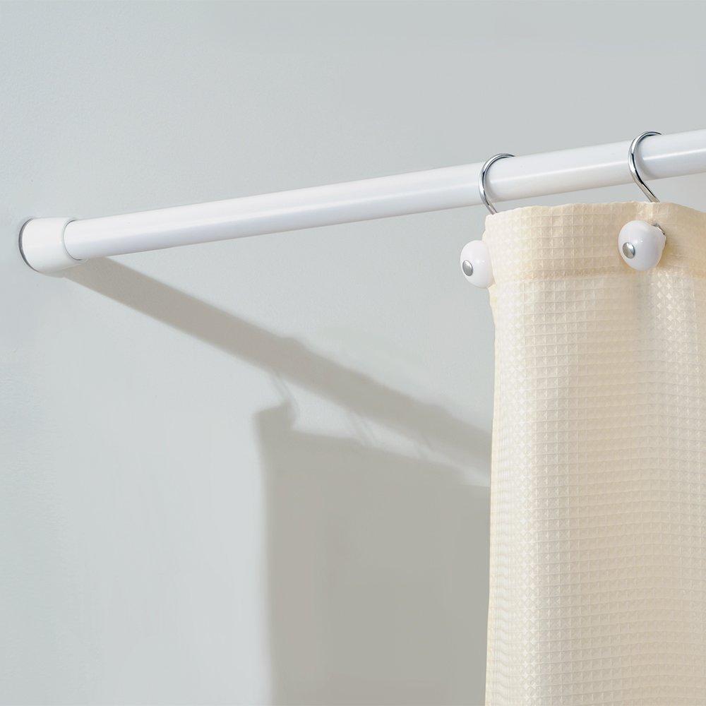 Interdesign asta a tensione tenda doccia, forma media, acciaio ...
