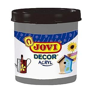 Jovi - Acryl, Caja de 6 Botes, Pintura multisuperficie, Color Plata (67037)
