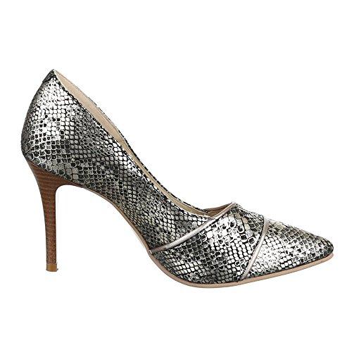 Ital-Design , Escarpins femme Or - Gold Schwarz