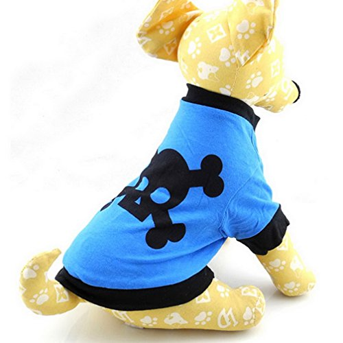 ranphy Kleine Hunde Katze T-Shirt Puppy Tank Top Sommer Chihuahua Kleidung für Jungen Totenkopf - Totenköpfe Halloween Großhandel