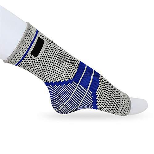 sfycstd Tutore Caviglia per Fitness Pallacanestro Tennis Antiscivolo alla Caviglia Traspirante Elastico Silicone Supporto per Caviglia Pallavolo Esecuzione Basket Ciclismo Grigio