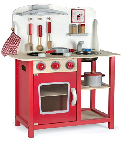 Cocina Madera Infantil Cocina De Juguete Accesorios Para Niñas Juego de Imitación...