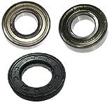 Roulements de tambour Kit roulements pour AEG, Privilège roulement de machine à laver 6205ZZ / 6206ZZ Joint d'arbre 35x62/11x12,5