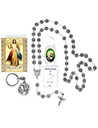 Divine Mercy - Juego de medallas católicas de Todos los Santos, Medalla de Ropa de Lourdes 925, Botella de Agua…
