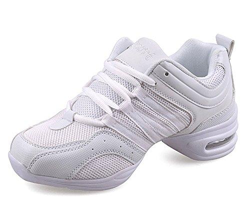 Ladies Web Sneaker Jazzdance Scarpe Sportive Sneakers Fitness Bianche