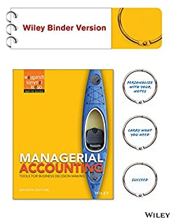 Managerial Accounting: Tools for Business Decision Making (1118338421) | Amazon price tracker / tracking, Amazon price history charts, Amazon price watches, Amazon price drop alerts