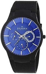 Skagen - 809XLTBN - Montre Homme - Quartz Analogique - Bracelet Titane Noir