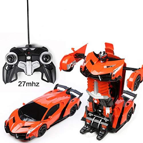 YXIAOL Teledirigido Un Botón Transformers Robot Car Carga Niños De Gran Tamaño Modelo Juguete 34 * 14.5 * 11,LamborghiniOrange