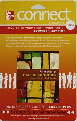 Connect 1-Semester Access Card for Principles of Macroeconomics by Robert Frank (2012-03-23)