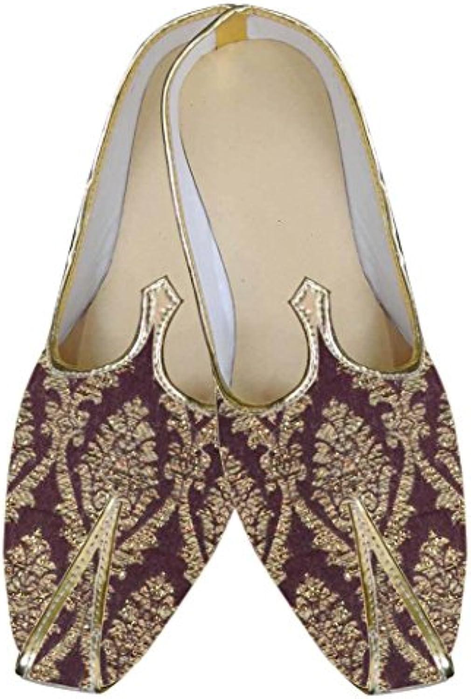INMONARCH Herren Braun Designer Schuhe beeindruckend MJ0046