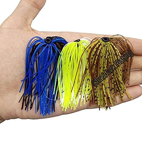 Shaddock Fishing 10 Bundles, 30 Strands Premium Silicone Skirts Assorted Color Fishing Skirt Lures for DIY Spinnerbatis Buzzbaits Rubber Jig Lures, Squid Rubber Skirt, Fly Tying Material Line Foot by Shaddock Fishing