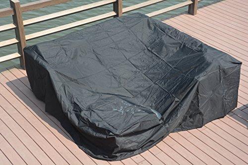 Direct Wicker 230 x 230 x 70cm Große wasserdichte Outdoor Regenhülle für Rattan Cube Gartenmöbel (Wetter-wicker-tisch-set)