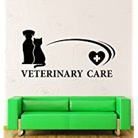 GGWW Wall Stickers Vinyl Decal Veterinary Care Animal Pets Hospital (Z1945I)
