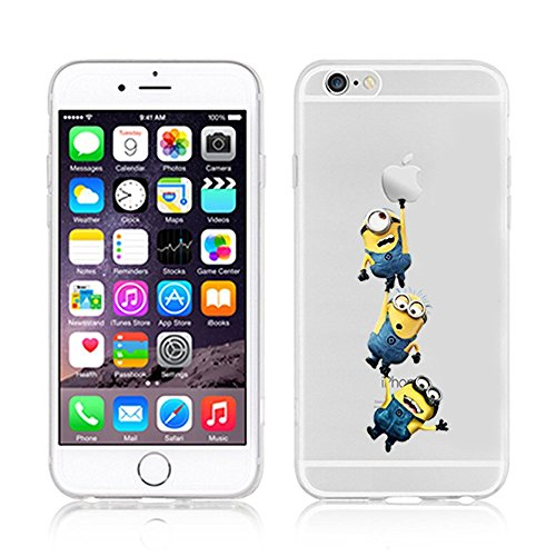 New Disney Princess Minions Zwerge Monster Universität transparent Soft TPU Hüllen für iPhone 5/5S; 5C; 6/6S; 6Plus; & iPhone 7, Kunststoff, 3 MINIONS, iphone 6/6s