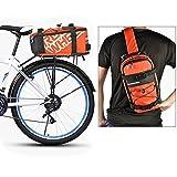 Roswheel Bolso Marco de Bicicleta Mochila Naranja