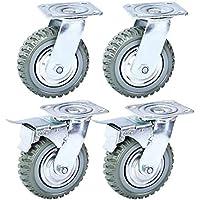 Nisorpa 4 ruedas industriales de 150 mm, resistentes, giratorias de 360 ° para transportar muebles, capacidad de carga 1000 kg