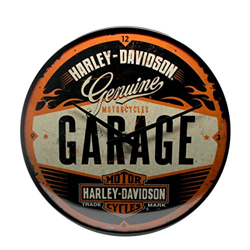 Nostalgic-Art 51083 Harley-Davidson - Garage, Wanduhr 31cm