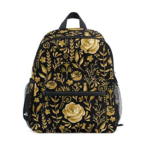DOSHINE Kinder Kleinkind Rucksack Golden Rose Floral