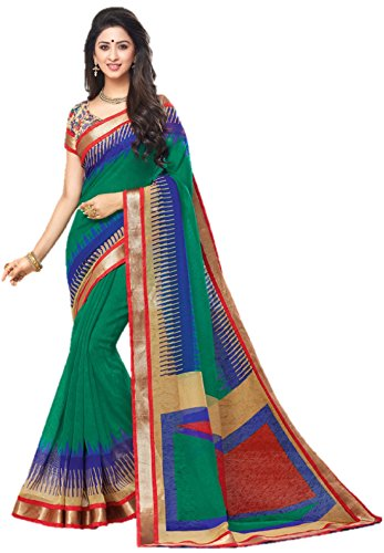 Miraan Linen Saree with Blouse Piece (SRH840_Multicoloured_One Size)
