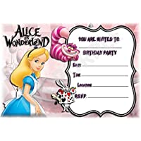 Amazon Co Uk Alice In Wonderland Invitations Party