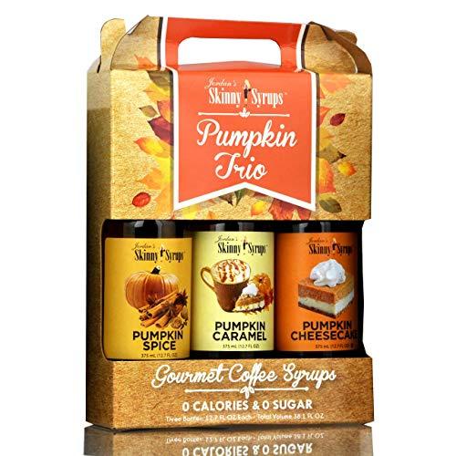 Jordan's Skinny Syrups Trio - Null Kalorien, null Zucker, Sätze köstlicher Kaffeesirupe Kürbis mix