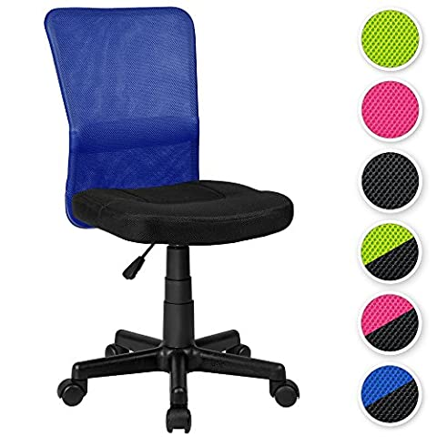 TecTake Bürostuhl Drehstuhl Schreibtischstuhl Schwarz-Blau