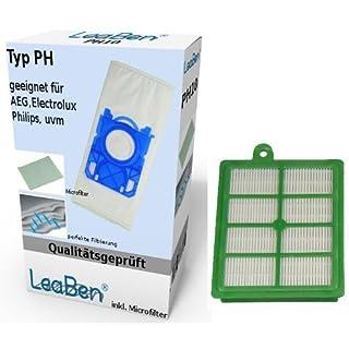 10 Staubsaugerbeutel + Hepa Filter geeignet für AEG AET 7765 #ph10_efh12