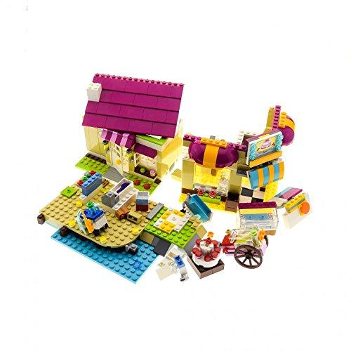 Preisvergleich Produktbild 1 x Lego System Teile Set Modell für 3315 41006 Haus Gebäude Teil für Friends Heartlake Bäckerei Olivia's house Traumhaus beige rosa unvollständig
