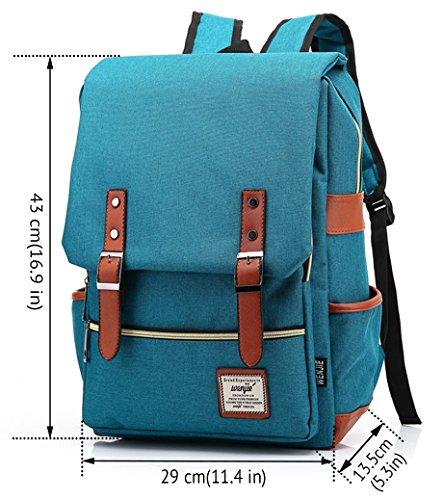 freemaster Vintage Casual Unisex Zaino Scuola Borsa Da Viaggio Zaino Daypack Tablet Borse, Black (rosa) - UKBB0006 Green Blue