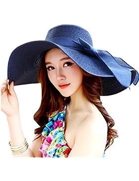 TININNA Donne Elegante Pieghevole Bowknot Cappello tesa larga Floscio Protezione solare Protezione UV Cappello...