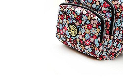 Feoya Borsa Messenger, multicolore (multicolore) - HF02FGH0029 Geblümt Bunt