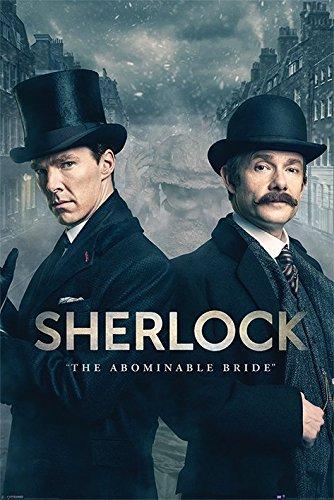 """Maxi Poster """"Sherlock The Abominable Bride"""" (lingua italiana non garantita), in legno, multicolore"""
