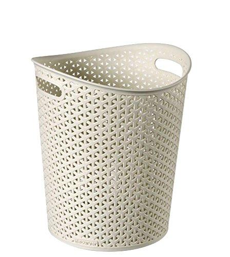 Curver Faux Rattan Waste Paper Basket Bin 13l Rattan
