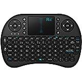 Rii Mini i8 Wireless (layout Español) - Mini teclado ergonómico con ratón touchpad para Smart TV, Mini PC Android, PlayStation, Xbox, HTPC, PC, Raspberry Pi (Rii mini i8 Nergo)