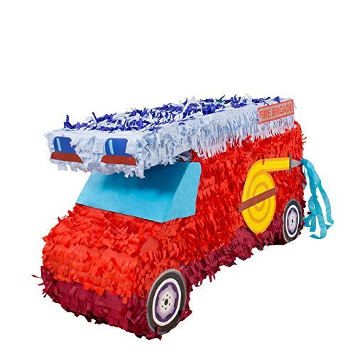 Folat 60933 Pinata Feuerwehr. Tolle Piñata zum Befüllen mit Konfetti, Süßigkeiten und kleinen Geschenken - Party Feuerwehr