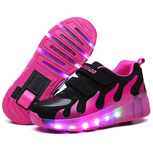 Skate Led Kinder Roll Einem Schuhe Mit Junge Warmhouse Shoes Mädchen AR435jL