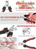 VersionTech Professionell Huastier Krallenzange Krallenschere Krallenschneider Hund Nagelschere mit Schutzscheibe Nagelknipser für mittelgroße und große Hunde Scherschneider - 6