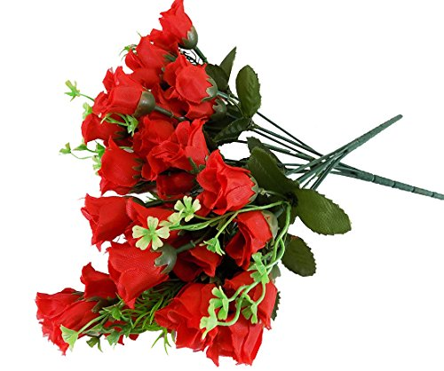 Flower Artificial Bunch 33 cm tall Artificial Carnation 2 Bunch with Many...