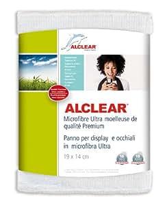 ALCLEAR 950003 Chiffon Microfibre Ultra pour Écran, pour iPhone et iPod, Blanc, 19x14 cm, Lot de 1