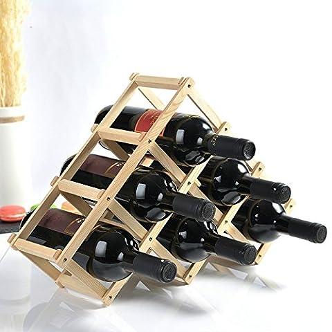 Pinienwald Wein Wein Wein Aus Holz Rack Rack Handwerk Verzierungen