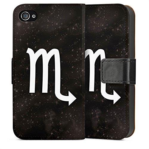 Apple iPhone 6 Housse Étui Silicone Coque Protection Étoiles Scorpion Signes du zodiaque Sideflip Sac